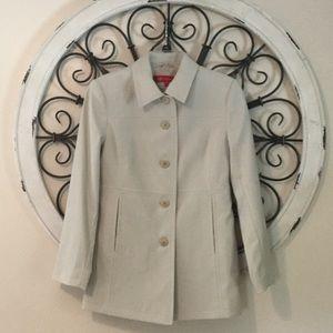 Anne Klein Cream Rain Coat